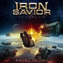 Iron Savior - Reforged riding on fire
