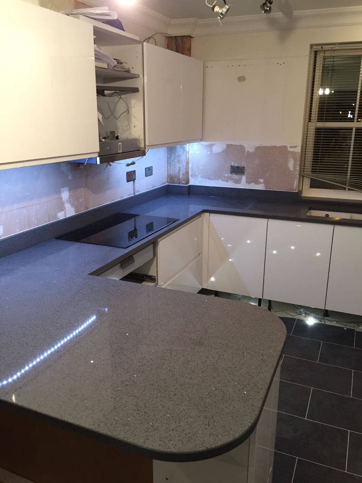 cost to update kitchen coffee decor for grey quartz worktops - rock and co granite ltd