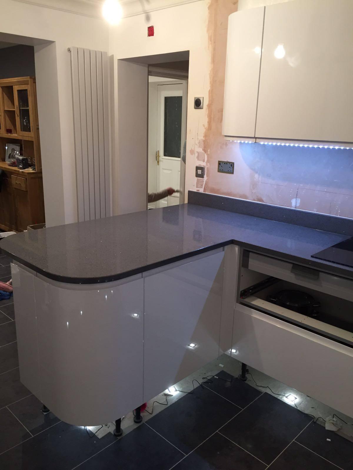 Grey Quartz Worktops  Rock and Co Granite Ltd