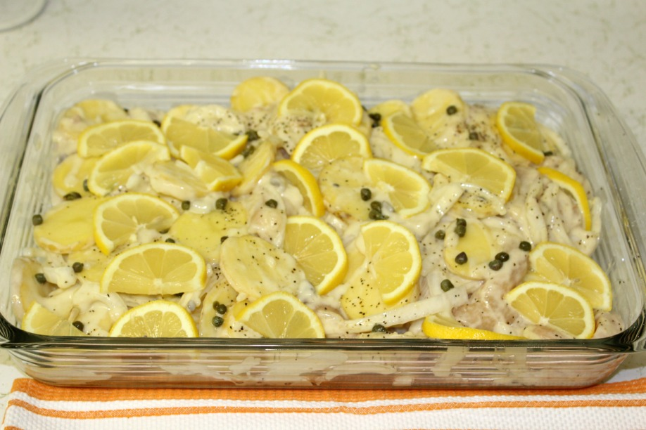 lemon caper chicken finished rock and drool
