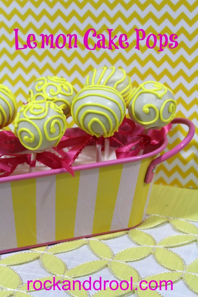 lemon cake pops rock and drool