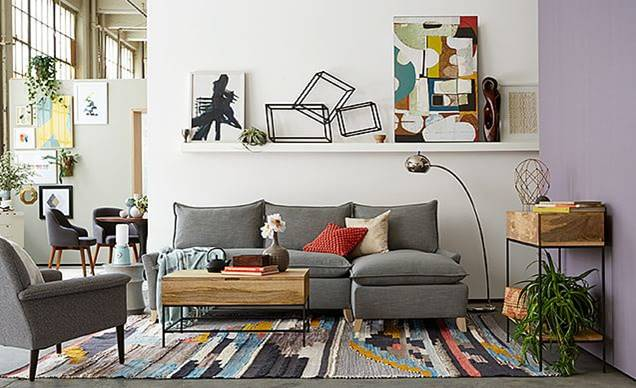 West Elm Inspired Living Room For Less  ROCK AND DROOL