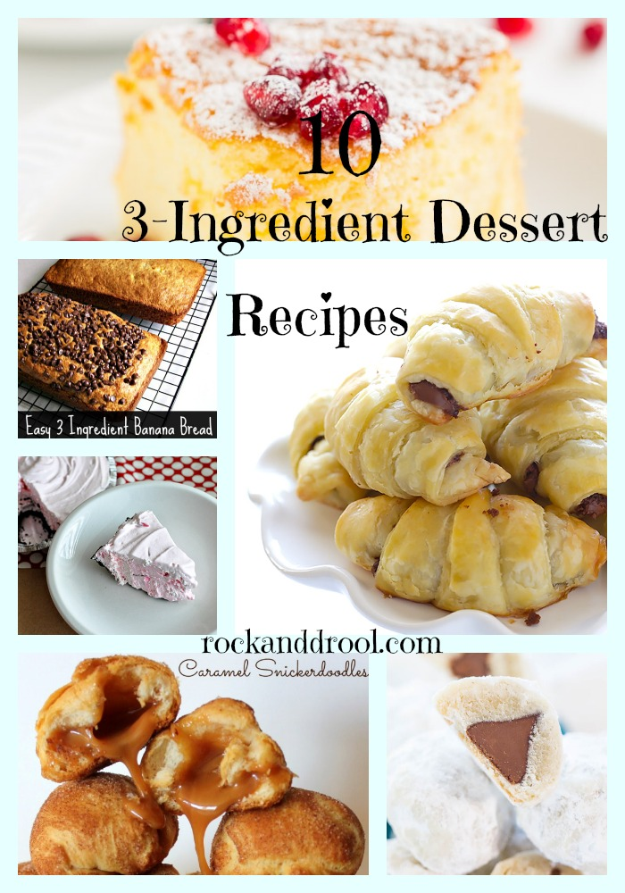 10 3-ingredient fast and easy dessert recipes