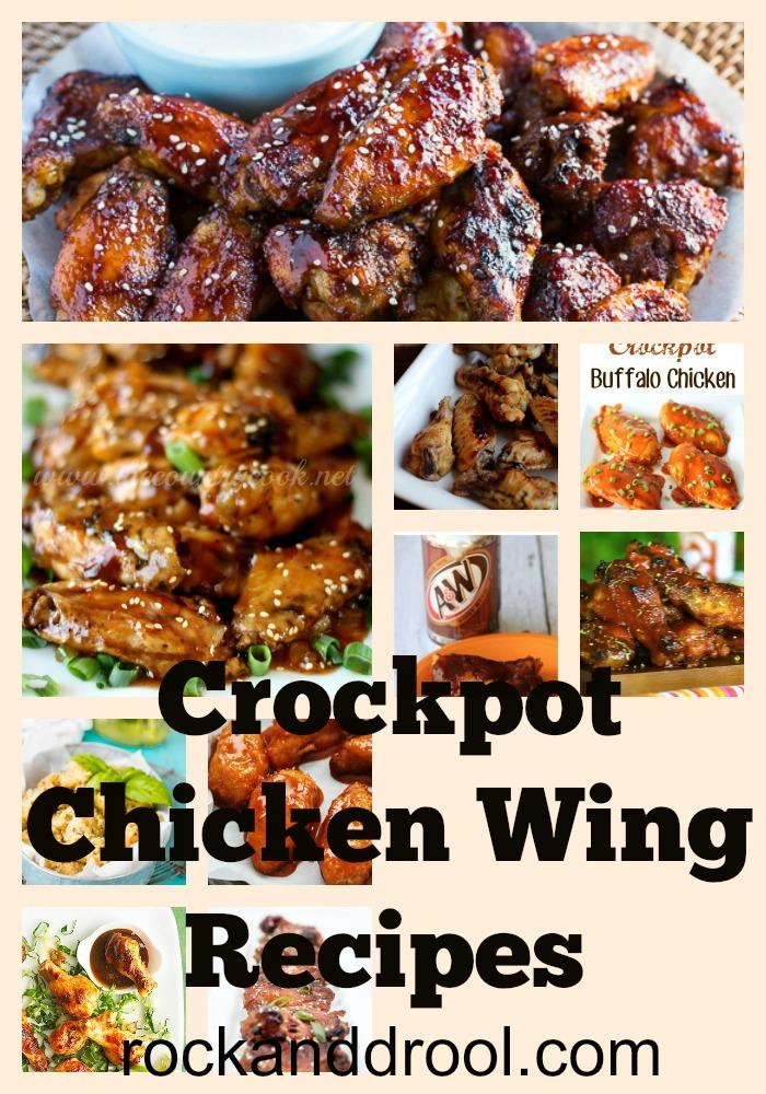 crockpot chicken wing recipes rockanddrool.com