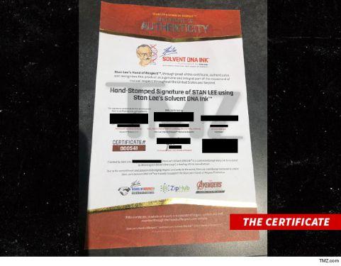 Stan Lee certificado de sangre