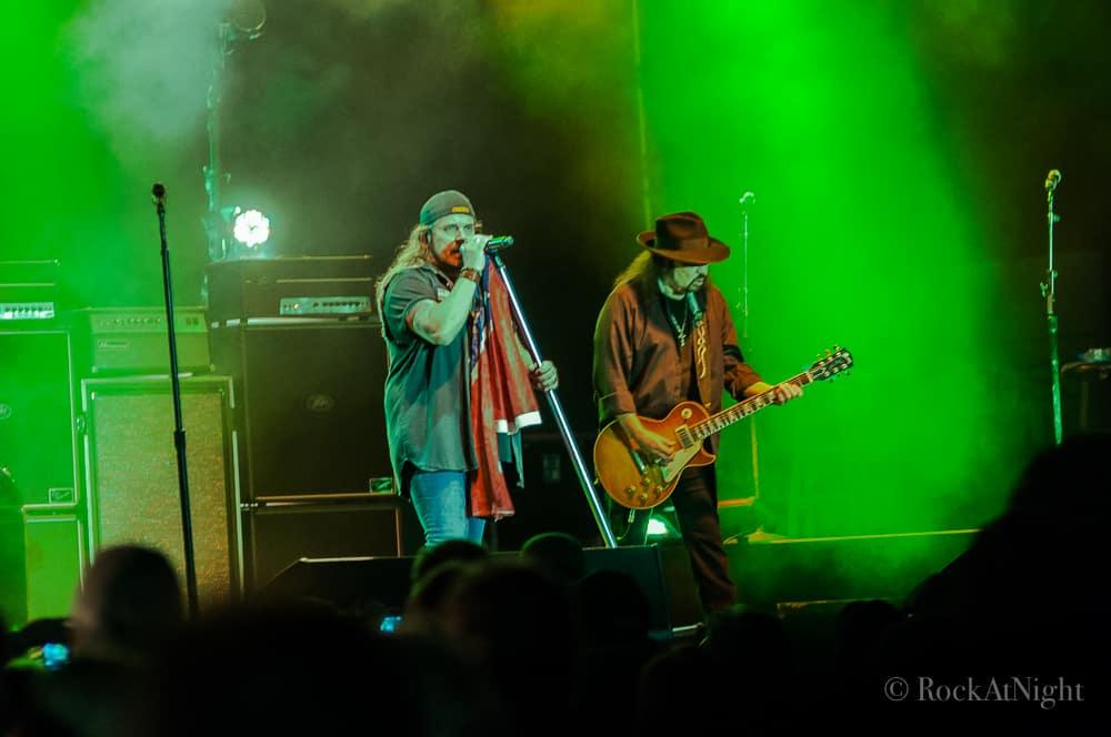 Johnny Van Zant and Gary Rossington of Lynyrd Skynyrd