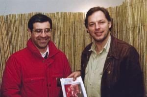 José Oliveira with David Gilmour, Pink Floyd circa 1988