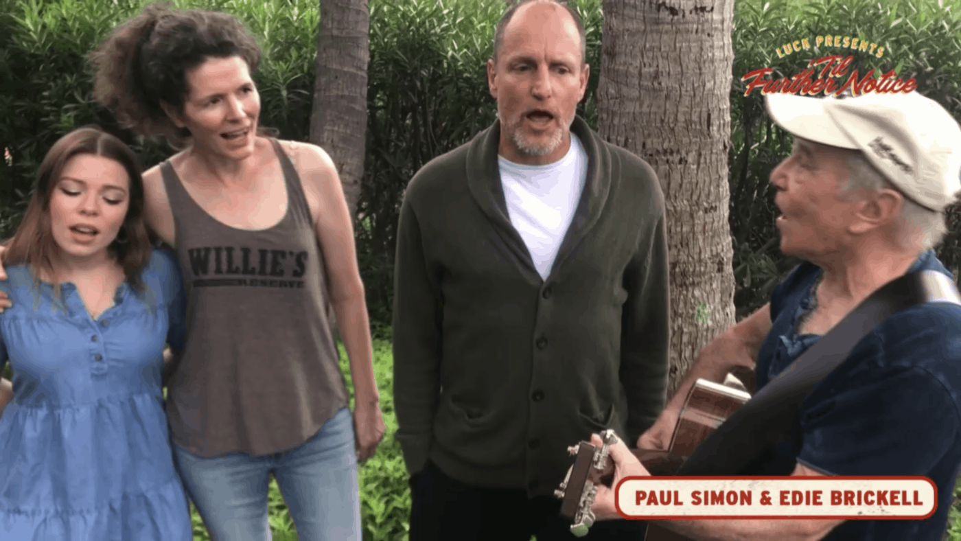 Paul Simon, Edie Brickell, and Woody Harrelson
