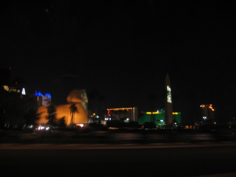 Blurry image of Las Vegas Strip