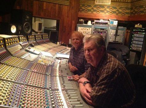 Brian and Al in the studio.