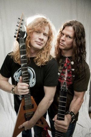 Dave and Chris Broderick of Megadeth.