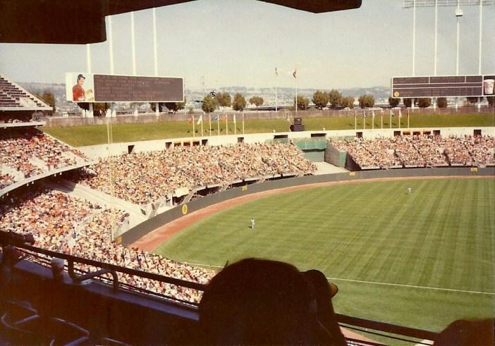 The Coliseum in baseball format, circa 1980. Photo: Nathan Hughes Hamilton/WikiMedia Commons