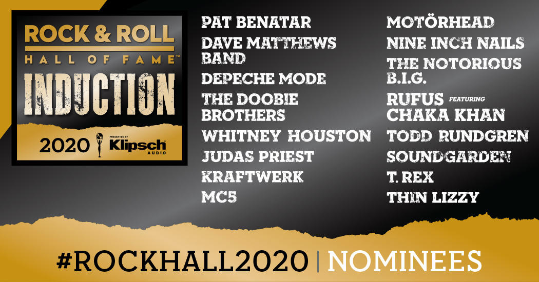 Nine Inch Nails Tour 2020.Rock And Roll Hall Of Fame 2020 Nominees List Announced Video