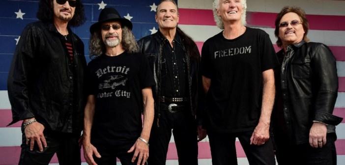 Grand Funk Railroad (Pictured L-R: Bruce Kulick (guitar), Mel Schacher (bass guitar), Max Carl (vocals), Don Brewer (drummer), Tim Cashion (keyboardist)) Photo credit: Allen Clark