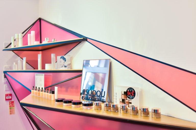 SUQQU 15th Anniversary pop-up store – Rock Constructions