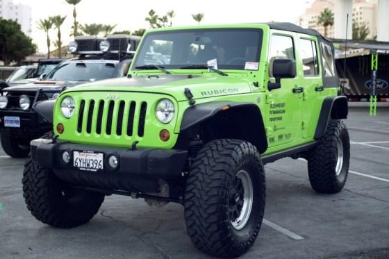 jeep jk wrangler green sema