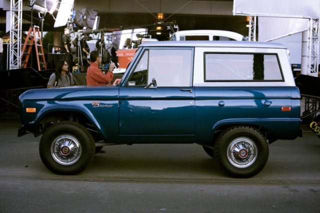 restored ford bronco sema