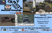 National Rampage Dirt Riot flier
