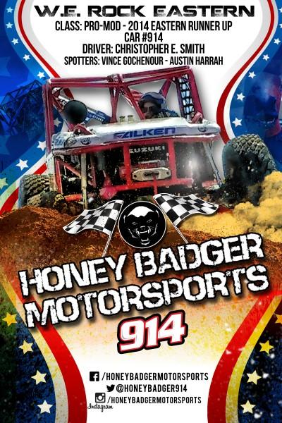 honey badger front