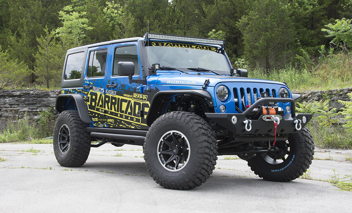 Extremeterrain com and barricade off road teamed up to build a 73 000 2015 jeep wrangler rubicon to be given away to a lucky winner at the 2015 sema show
