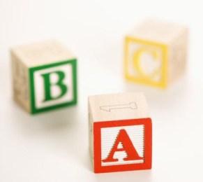 Toy ABC blocks.