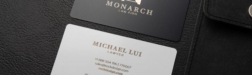Luxury Metal Law Firm Free Black And White Business Card Template Monarch