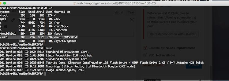 วิธีทำ Auto Mount Partition บน Linux หรือ Raspberry Pi ด้วย Hardware Id