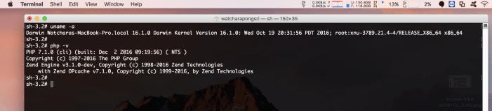 วิธี Upgrade PHP บน MacOS Sierra ไปเป็น PHP version 7.1