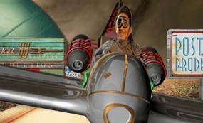 Johnny Rocket in his spaceship