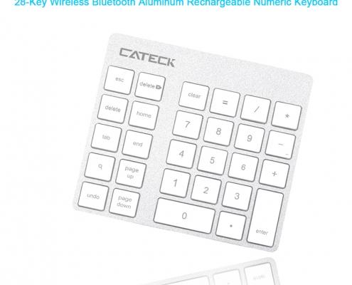 Rocketek Aluminum Bluetooth Wireless Keypad Number Pad