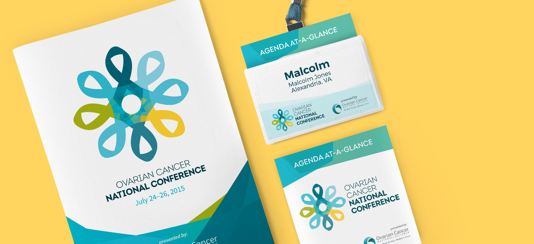 Ovarian Cancer National Conference Print Design Rocketkoi