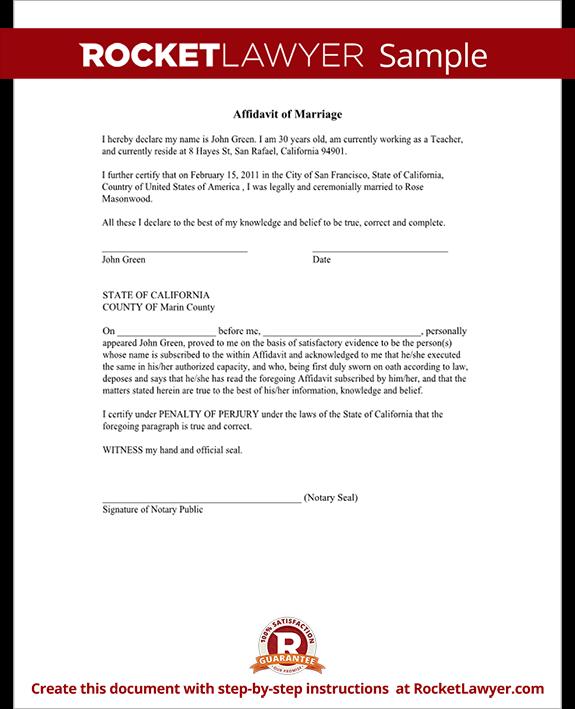 Sample Form Affidavit Of Support | Job Application Letter