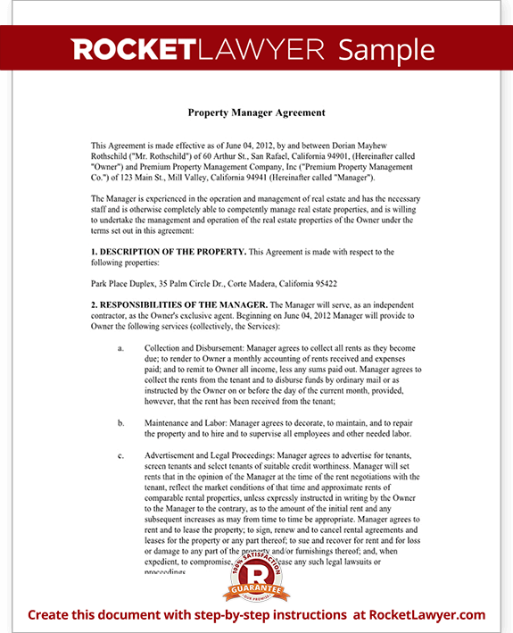 Sample Property Management Contract Termination Letter