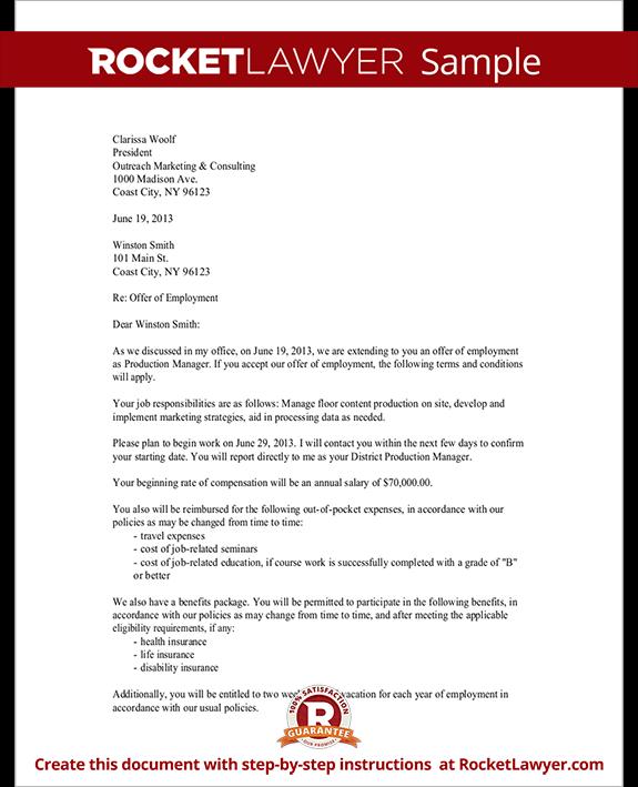 Letter confirming employment free download spiritdancerdesigns Gallery