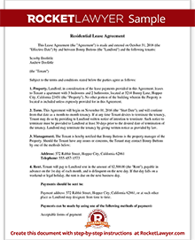 Lease Agreement Form | Free Rental Agreement Template | Rocket Lawyer