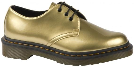 dr martens gold shoes