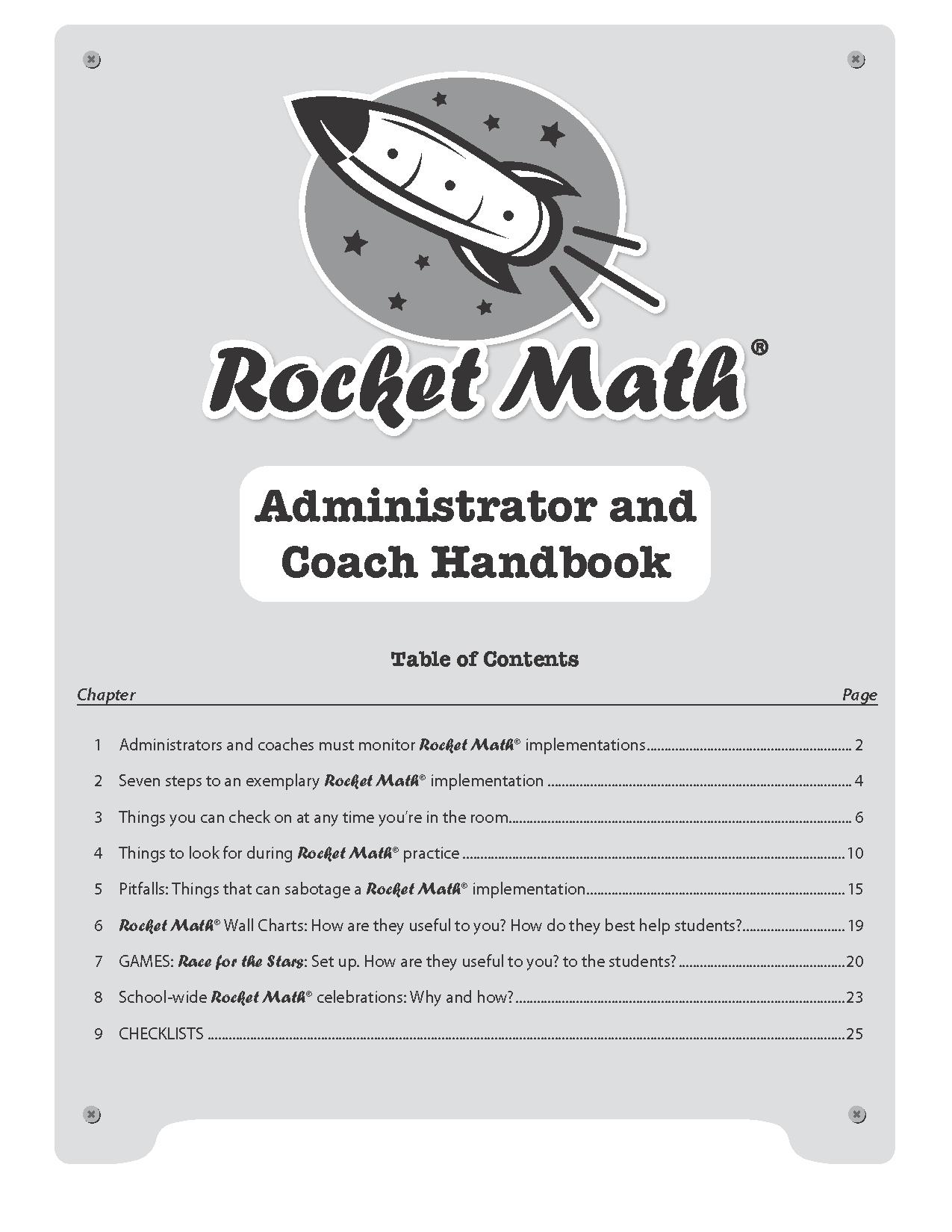 Administrator Amp Coach Handbook