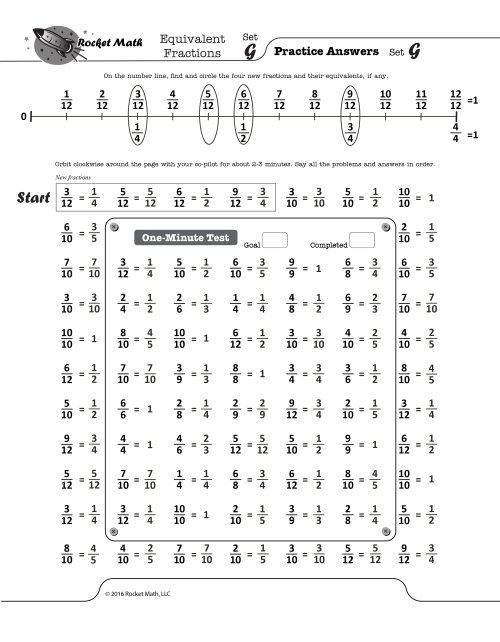 small resolution of Equivalent Fractions - Rocket Math