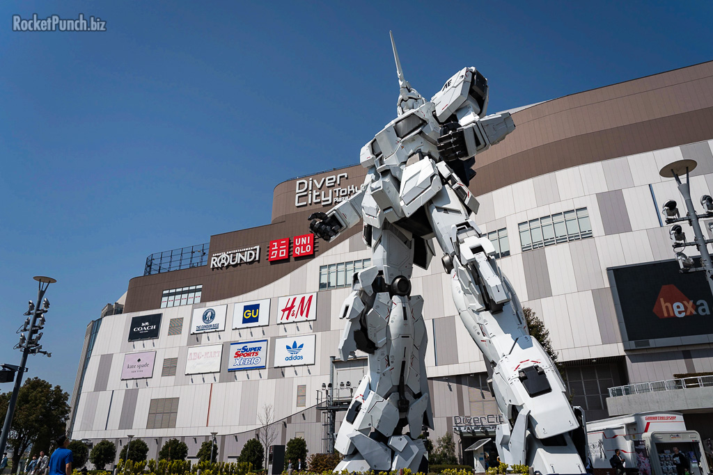A visit to the 1:1 Gundam Unicorn at Odaiba, Tokyo