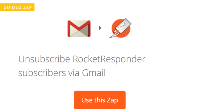 Using Zapier to unsubscribe RocketResponder subscribers using Gmail Labels