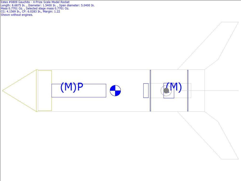 medium resolution of  0809 gauchito x prize scale model rocket rocksim design file