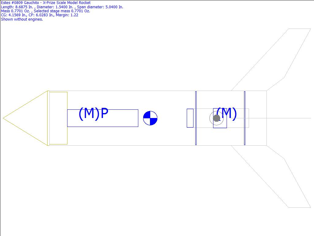 hight resolution of  0809 gauchito x prize scale model rocket rocksim design file