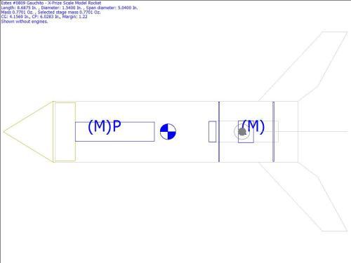 small resolution of  0809 gauchito x prize scale model rocket rocksim design file
