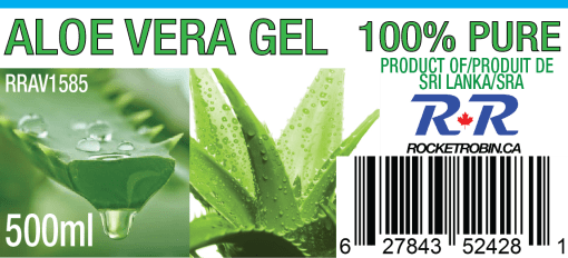 Aloe Vera Gel Juice Label