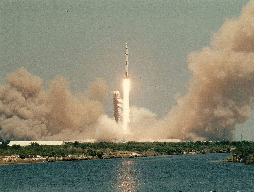 Blastoff of a Saturn V rocket. Credit: Julian Leek