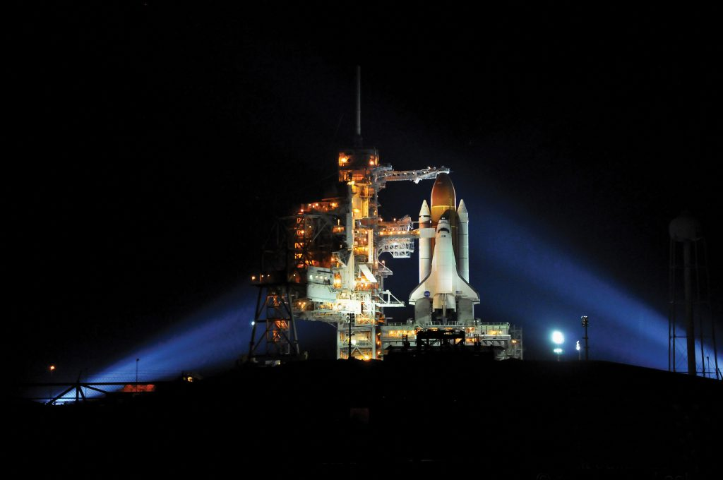 Endeavour before STS-134 launch. Credit: Julian Leek