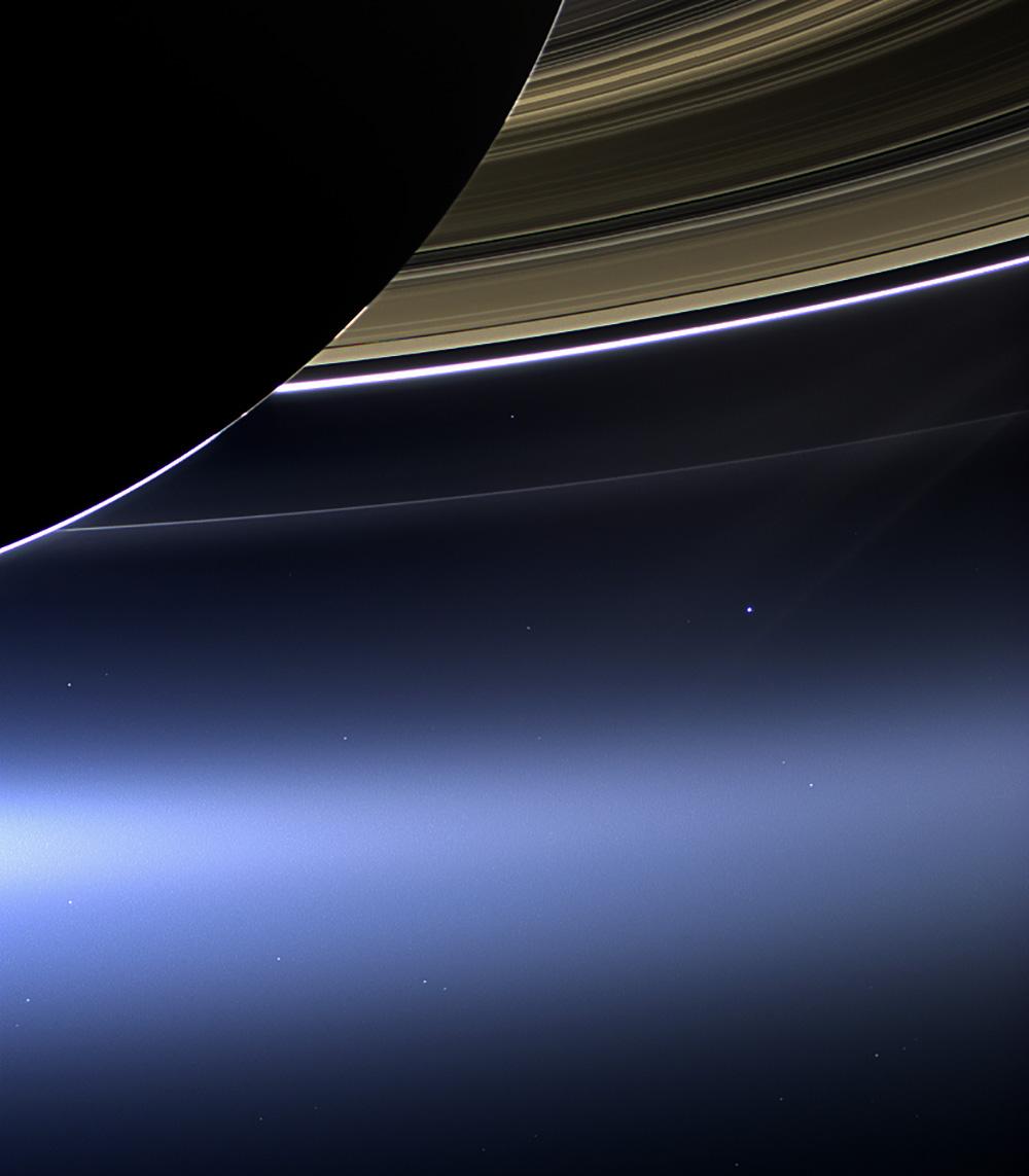 Cassini images Earth beneath Saturn's rings - RocketSTEM