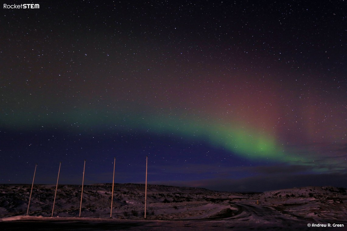 Aurora Borealis as seen in the skies near Gullfoss, Iceland. Photo: Andrew Green