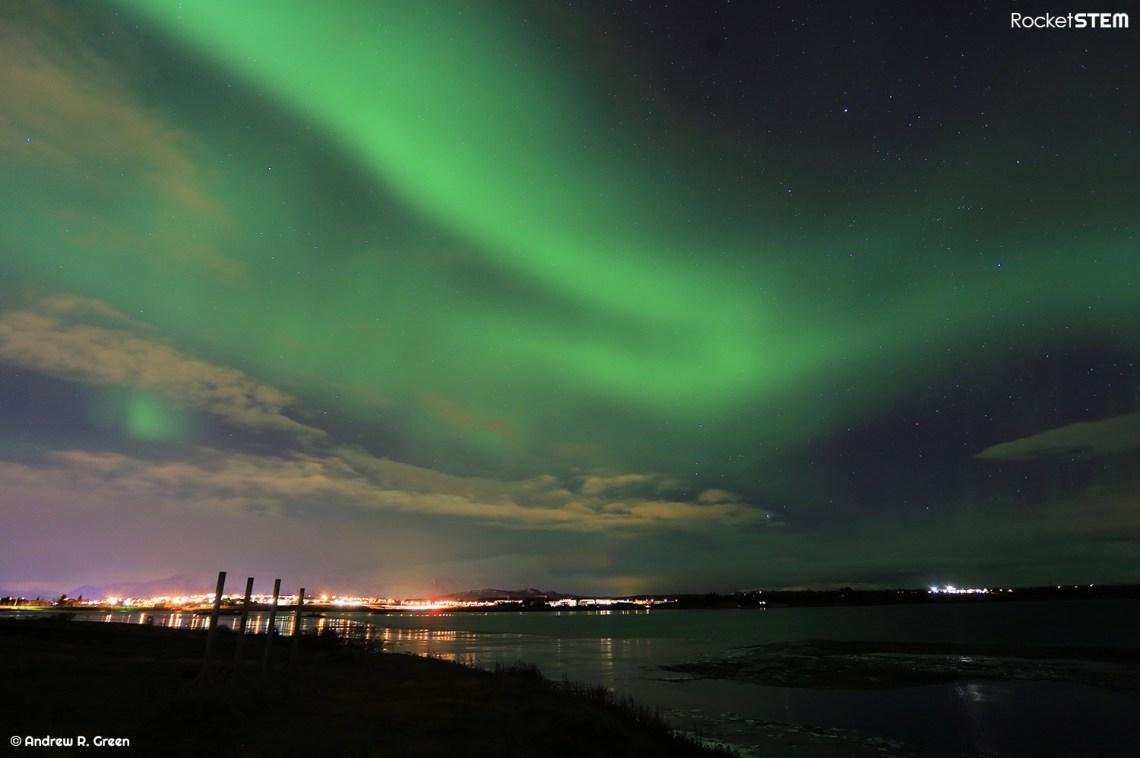 Aurora Borealis as seen in the skies near Reykjavik, Iceland. Photo: Andrew Green