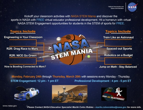 Nasa Launches Stem-in-sports Online Learning Program